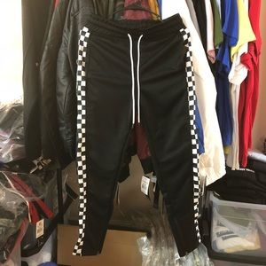 🚫Sold🚫Checkered Track Pants - Black